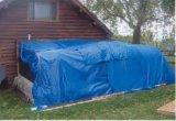 2000# 100GSM 3.6mx5.4m Medium-Gewicht-blaue Blatt-Plane