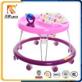 Marcheur rond simple de plastique de bébé avec la roue de silicones