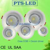 5W-50W Osram Chip cree cara curva controlador embebido Downlight LED con UL SAA
