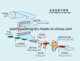 Máquina de embalagem automática para a embalagem de toalha de limpeza feita em China