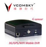 4CH Vcomsky GPS 3G 1 Тбайт HDD Mobile DVR автомобиля по шине CAN