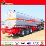 Dei 3 assi del petrolio greggio dell'autocisterna del trasporto del serbatoio di combustibile rimorchio semi