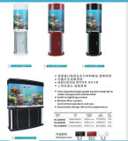 Tanque acrílico feito sob encomenda do aquário do diodo emissor de luz do tanque de peixes do cilindro grande (BTR-YKL)