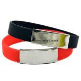 Bracelet de silicium de bijou d'acier inoxydable pour les cadeaux promotionnels