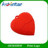 Collar de dibujos animados de memoria USB Flash Drive USB de PVC Corazón