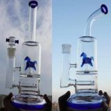 tubi di acqua di vetro della coppa pesante 12inch con colore Downstem