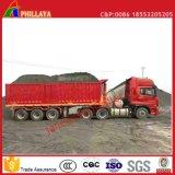 De hydraulische Open Semi Aanhangwagen van de Kipper van de Container van de Vrachtwagen van de Stortplaats van de Doos 40FT