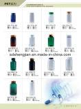 고품질 애완 동물 플라스틱은 손가락으로 튀김 상단 모자를 가진 HDPE 약 병을 병에 넣는다