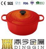 エナメルスープ鍋の鋳鉄のエナメルのチーズ鍋