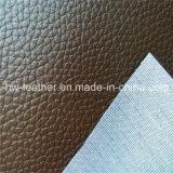 De Stof van het Leer van pvc voor Ladys Handtassen hw-750