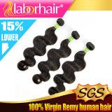 extensions 100% brésiliennes de cheveux humains de Vierge d'onde du corps 9A I9