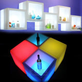 Gabinete de vinho LED Bar Showcase e Cube Stool Color Changing