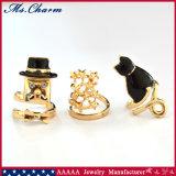 3 Juwelen van de Manier van de Ring van de Spijker van de Ster van de Kat van de Heer PCS/Set de Zwarte Vastgestelde