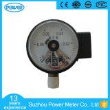 100mm 까만 강철 전기 접촉 압력 계기