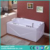 Cuba branca luxuosa 1700mm da massagem da banheira por muito tempo (TLP-679)