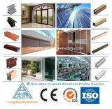 Perfil de alumínio de grãos de madeira para a janela de alumínio