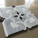 Bianco all'ingrosso di Thassos e mattonelle di mosaico di marmo di Nero Marquina