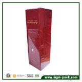 Alto brillo rojo personalizados vino de madera pulida de verificación