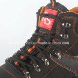 Sapatas de segurança de couro industriais com certificado do Ce
