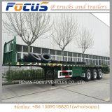 20FT 40FT 콘테이너를 위한 해골 반 프레임 트럭 포좌 트레일러