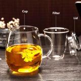 El patrón de Elk taza de té de vidrio con filtro de regalo de Navidad taza taza de té
