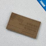 Nice verontrustte het Bruine In reliëf gemaakte Etiket van het Leer van het Embleem