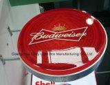 Cadre léger personnalisé de cercle acrylique d'étalage d'objet exposé