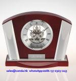 Recuerdo y sorteos determinados del asunto del escritorio del regalo del reloj K8002 del reloj del regalo esquelético de madera determinado del kit