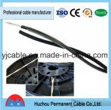 Câble de haut-parleur isolant en PVC transparent et rouge et noir
