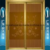 Fabricante de puertas colgantes de aluminio de buena calidad y auditoría de TUV