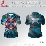 Мужчина Healong Sportswear 3D технология термосублимации красителей футболки для продажи