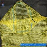 sacchetto netto della maglia gialla di 50*80cm per le patate dell'imballaggio 25kg