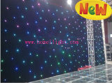 Bunter 3*8m RGB Tricolor Stern-Vorhang mit CER für Stadiums-Leistung und Partei