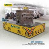 Carro liso elétrico motorizado de transferência para o projeto de construção