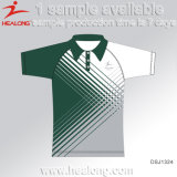 Healong Retro 디지털 인쇄 남자 줄무늬 폴로 셔츠