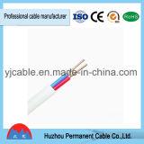 Chaqueta de PVC de cobre plana del cable BVVB del acceso de Ningbo
