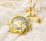 Reloj de manera Seis-Acentuado del diamante de Love Story de la estrella de la aleación