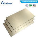 comitato composito di plastica di alluminio del PE PVDF di spessore di 3mm 4mm