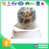 La bolsa de plástico biodegradable del lazo de la alta calidad para la basura