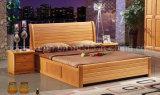 固体木のベッドの現代ダブル・ベッド(M-X2268)