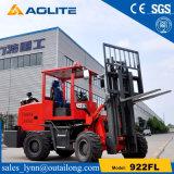 4WD de Chinese Lader van het Wiel van de Vorkheftruck van de Fabriek Nieuwe Kleine voor Verkoop