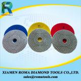 As almofadas de polonês 400# do diamante de Romatools molharam o uso