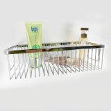 Casier métallique faisant le coin simple annexe de douche de salle de bains d'acier inoxydable de couches de chrome