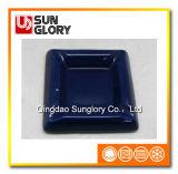 Blauer glasig-glänzender keramischer Becher Yg011