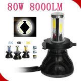 Bulbos principales sin error H4 de la linterna de la luz 80W 8000lm LED del coche LED de la linterna 12V 24V de G20 Canbus LED