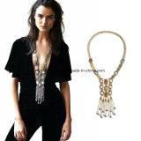 옷입는 스타일 Retro 보석에 의하여 다이아몬드 장식용 목을 박는 수정같은 고급 긴 술 목걸이