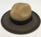 Sombrero natural de papel del sombrero de paja con la cinta asociada (Sh018)
