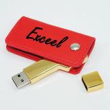 USB Flash Drive OEM Logo PU Chave de couro USB Stick Pendrives USB Flash Disk Cartão de memória USB USB 2.0 Flash Card Pen Drive Memory Stick Thumb Drive