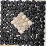 Плитка камня камушка мозаики черноты фабрики Нанкин Polished