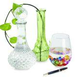 250ml de glasheldere Geribbelde Vaas van het Glas van de Knop